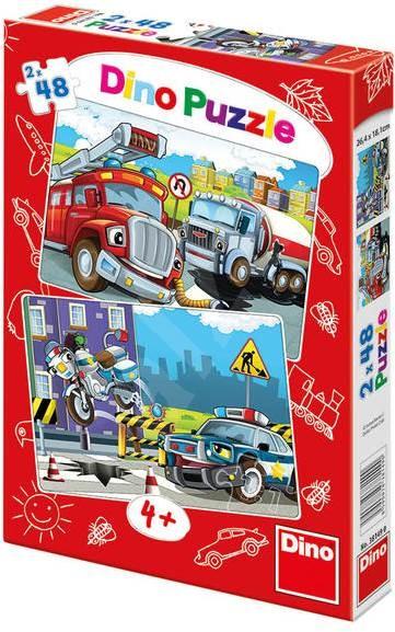 Dino Policie a hasiči - Puzzle