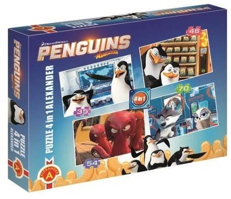 Tučňáci z Madagaskaru 4v1 - Puzzle