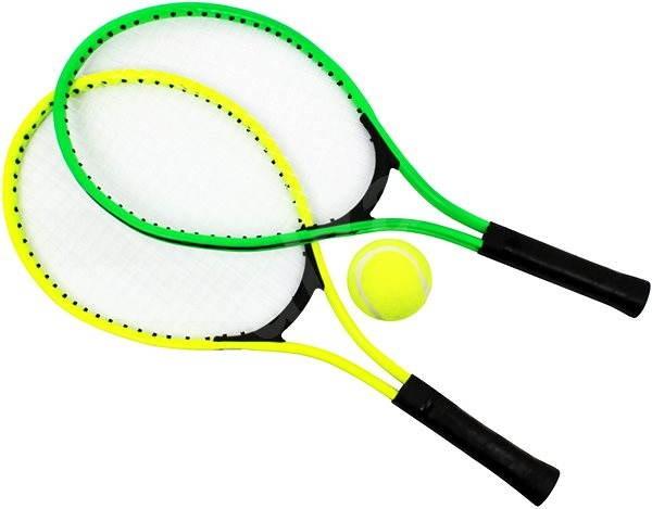 """Tenisové rakety 23"""" & tenisový míč, zelená + žlutá - Venkovní hra"""
