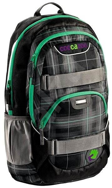 Školní batoh Coocazoo Rayday - Classic Check Black - Dětský batoh ... b0ddf0d885