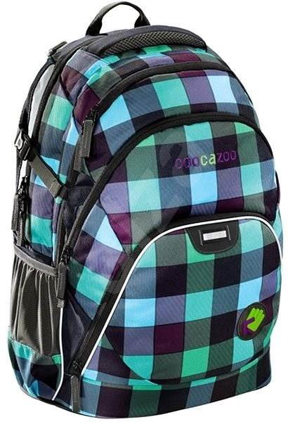 Školní batoh Coocazoo EvverClevver - Green Purple District - Dětský batoh 552b295535