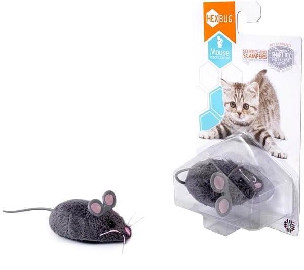 Hexbug - Robotická myš šedá - Mikrorobot