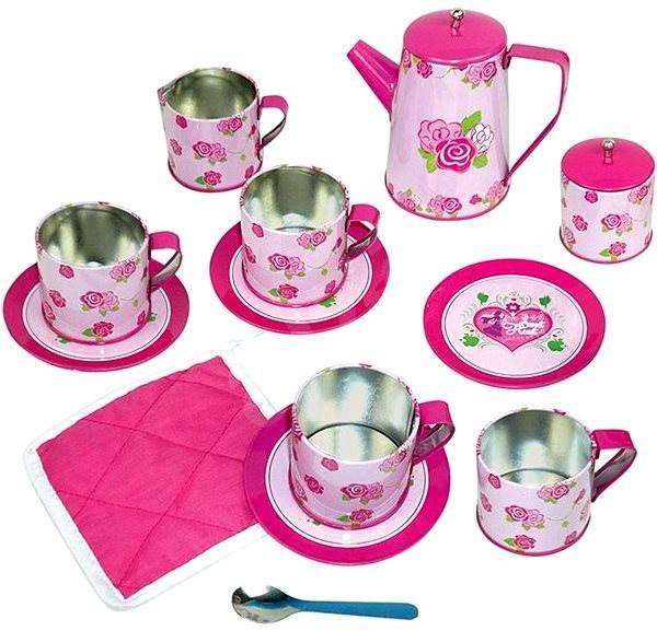 Bino Dětský čajový set růžový - Herní set