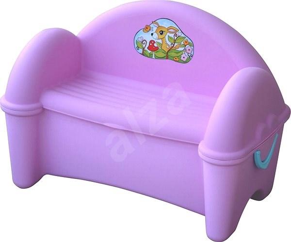 Lavice s úložným prostorem fialová - Úložný box