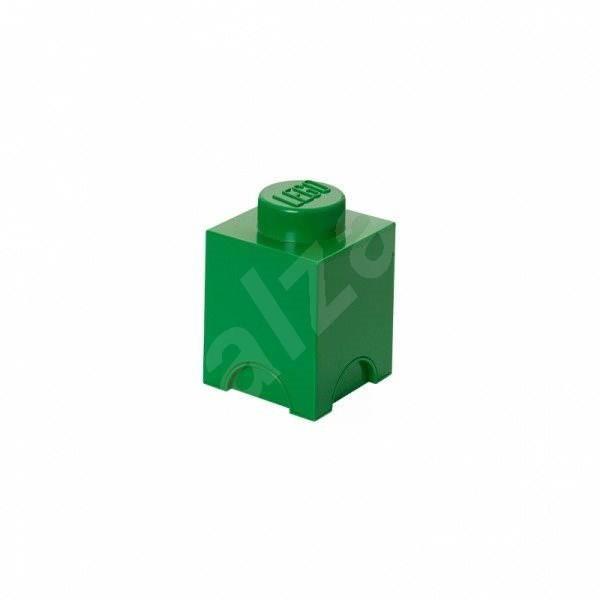 LEGO Úložný box 125 x 127 x 180 mm - tmavě- zelený - Úložný box