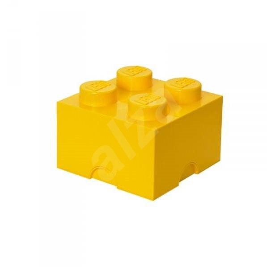 LEGO Úložný box 250 x 250 x 180 mm - žlutý - Úložný box