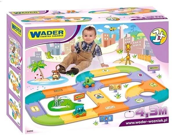 Wader - Silnice pro děti + 2 auta 4,3 m - Stavebnice