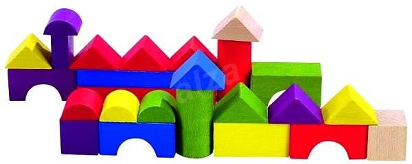 Detoa barevná stavebnice - Dřevěné kostky