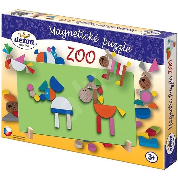 Dřevěné hračky - Magnetické puzzle ZOO - Puzzle