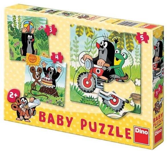 Dino Krteček na louce - Puzzle