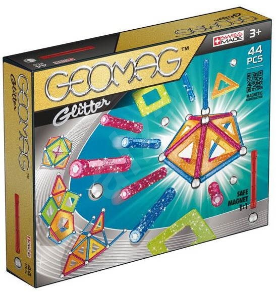 Geomag - Glitter 44 dílků - Magnetická stavebnice
