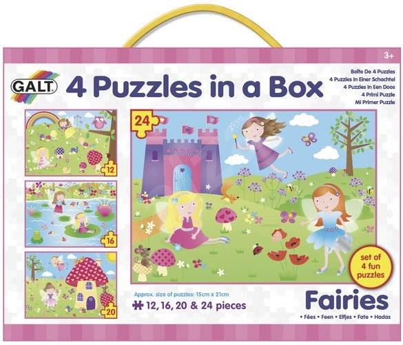 4 Puzzle v krabici - Víly - Puzzle