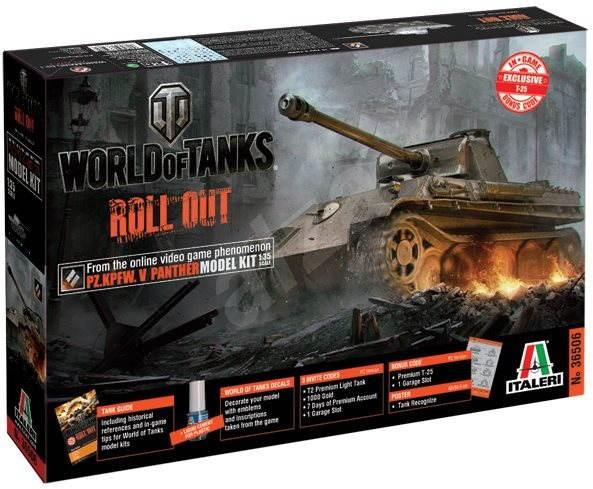 Italeri World of Tanks 36506 – Pz. Kpfw.V Panther - Plastikový model