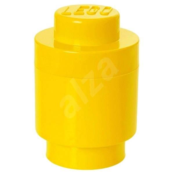 LEGO úložný box kulatý o123 x 183 mm - žlutý - Úložný box