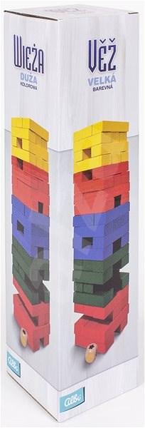 Věž velká barevná s kostkou - Párty hra