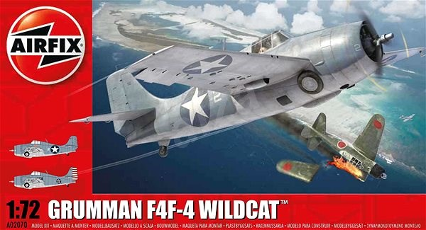 Classic Kit letadlo A02070 - Grumman Wildcat F4F-4 - nová forma - Model letadla