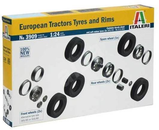 Italeri Model Kit 3909 truck – European Tractors  Tyres and Rims - Plastový model
