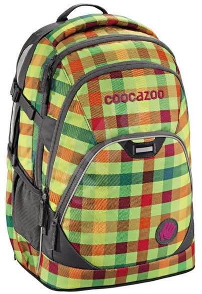 CoocaZoo EvverClevver2 Hip To Be Square Green - Školní batoh  8c1c7ef7ac