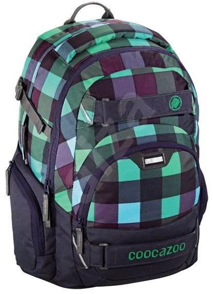 CoocaZoo CarryLarry2 Green Purple District - Školní batoh  d6dcc4f734
