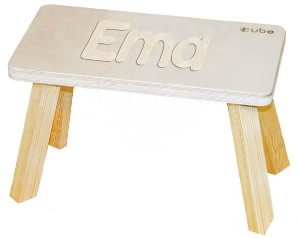 Přírodní stolička CUBS Ema - Dětský nábytek