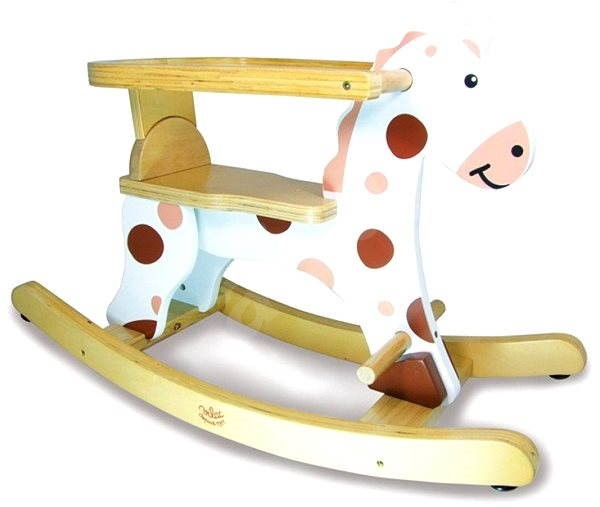 Dřevěný houpací kůň bílý - Houpadlo