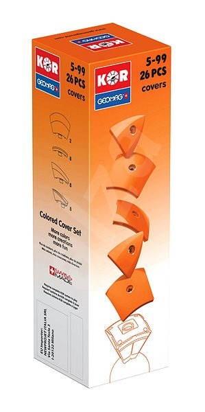Geomag - Kor 26 dílků oranžová - Magnetická stavebnice