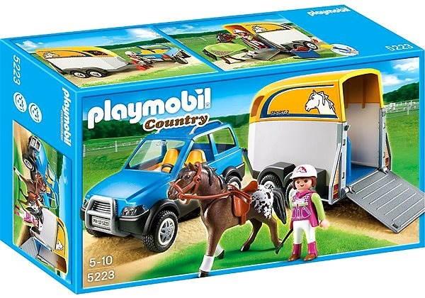 Playmobil 5223 Terénní auto s přívěsem - Stavebnice