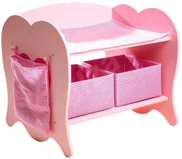 Dřevěný přebalovací pult pro panenky - Příslušenství k panence
