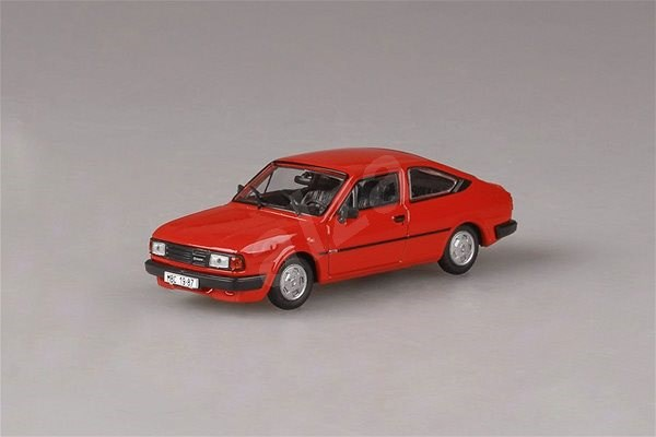 Škoda Rapid 136 (1987) 1:43 - Red Coral - Toy Vehicle