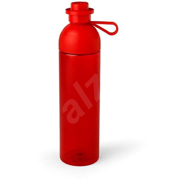 LEGO láhev transparentní 0,74L - červená - Láhev na pití