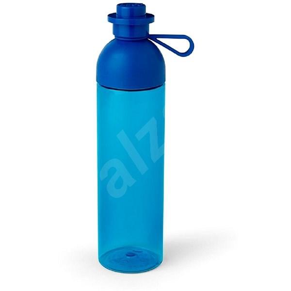 LEGO láhev transparentní 0,74L - modrá - Láhev na pití