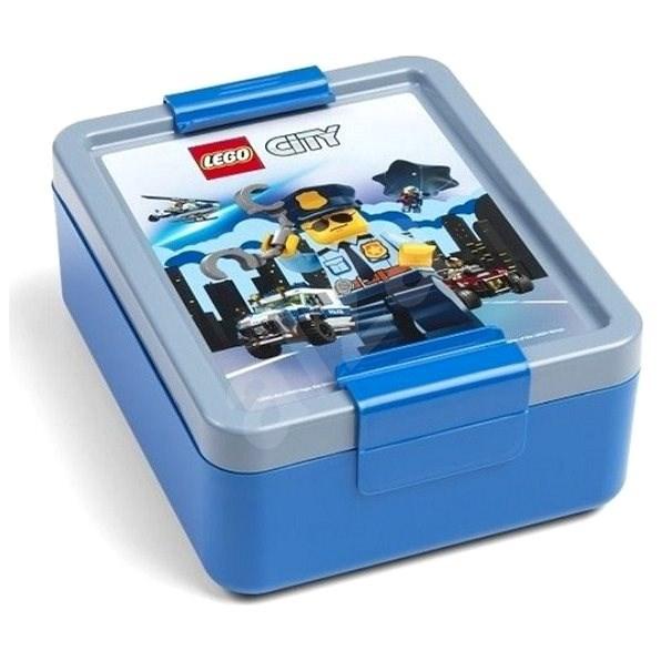 LEGO City box na svačinu - modrá - Svačinový box