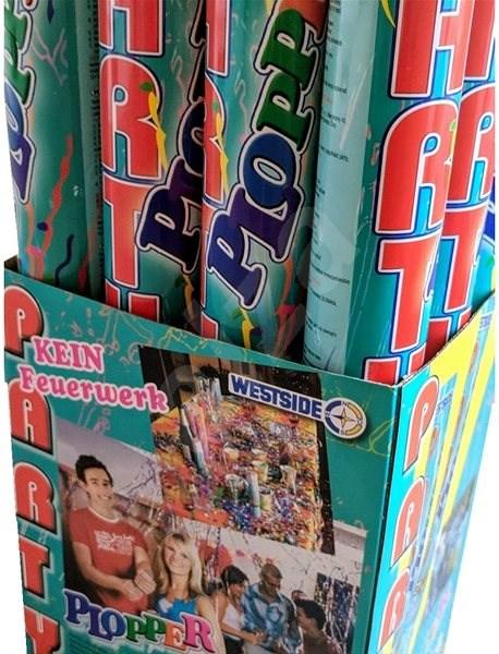 Konfety vystřelovací, 50 cm, mix barev - Party doplňky