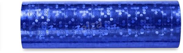 Serpentýny holografické, 3,8m, modré, 18ks - Party doplňky