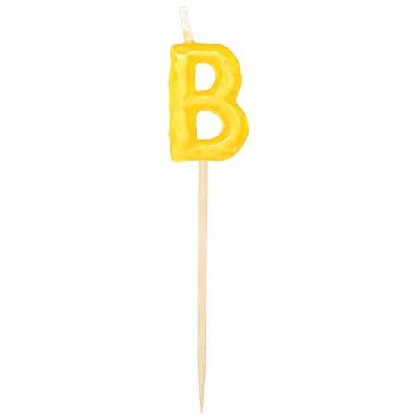 Svíčky narozeninové, 6,5cm, Happy Birthday na špejli, 13ks - Svíčka