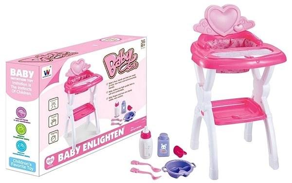 Židlička pro panenky, s přílušenstvím - Hračka