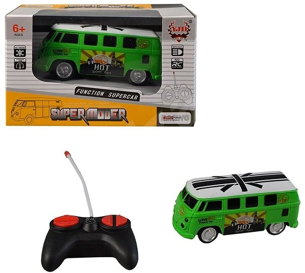 MaDe Autobus na ovládání, plné, 12cm - RC auto na dálkové ovládání