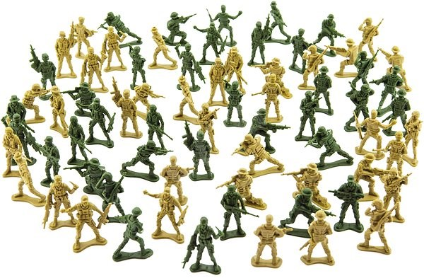 Teddies Set of soldiers 2 colours CZ design - Figures