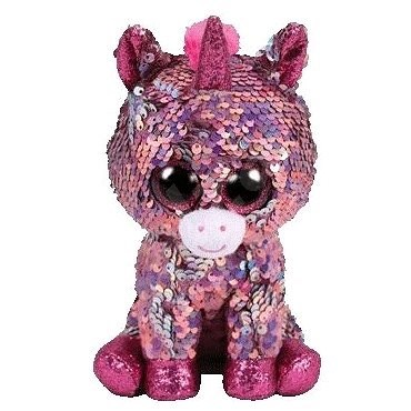 BOOS Flippables SPARKLE, 15cm - Sequin Pink Unicorn - Plush Toy