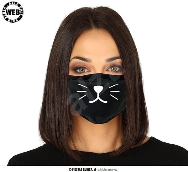 Látková Rouška - Motiv Kočka - Doplněk ke kostýmu