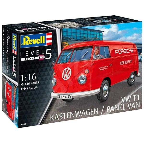 Plastic ModelKit car 07049 - VW T1 Kastenwagen - Model Car