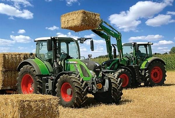 Schmidt Puzzle Traktory Fendt 724 Vario a Fendt 716 Vario 100 dílků - Puzzle