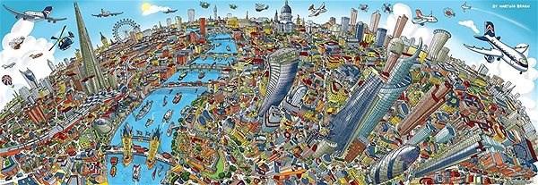 Schmidt Panoramatické puzzle Londýn, Velká Británie 1000 dílků - Puzzle