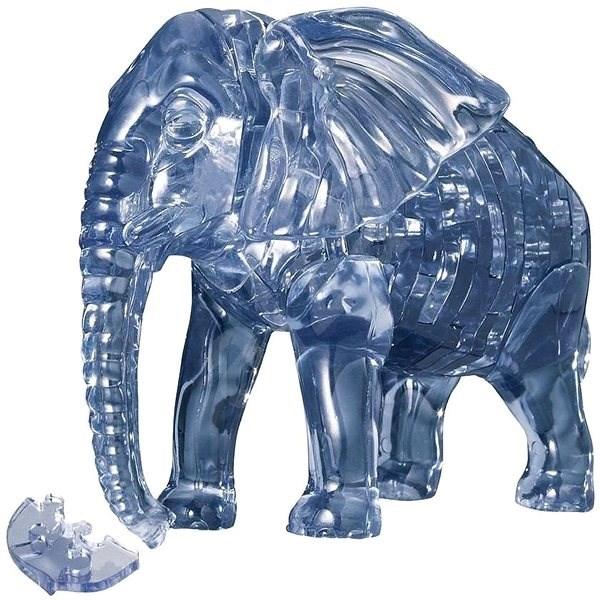 HCM Kinzel 3D Crystal puzzle Slon 40 dílků - 3D puzzle