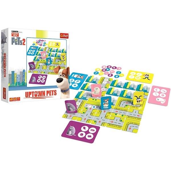 Trefl Dětská hra Uptown Pets (Tajný život mazlíčků 2) - Společenská hra