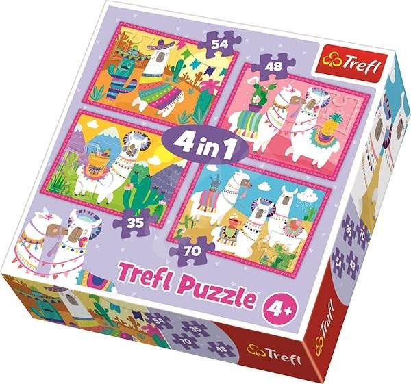 Trefl Puzzle Veselé lamy 4v1 (35,48,54,70 dílků) - Puzzle