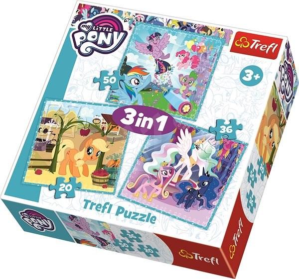 Trefl Puzzle My Little Pony 3v1 (20,36,50 dílků) - Puzzle