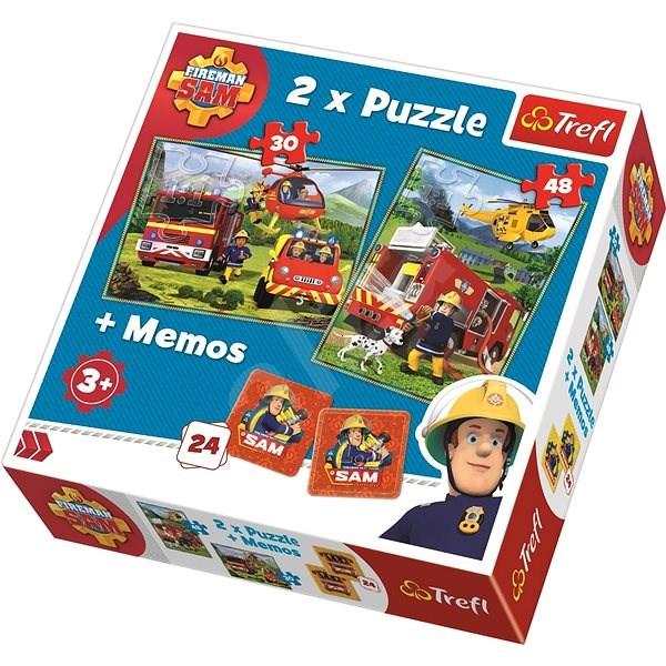Trefl Puzzle Požárník Sam 30+48 dílků + pexeso - Puzzle