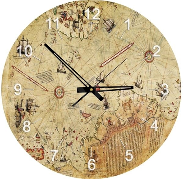 Art Puzzle hodiny Mapa kapitána Reise 570 dílků - Puzzle