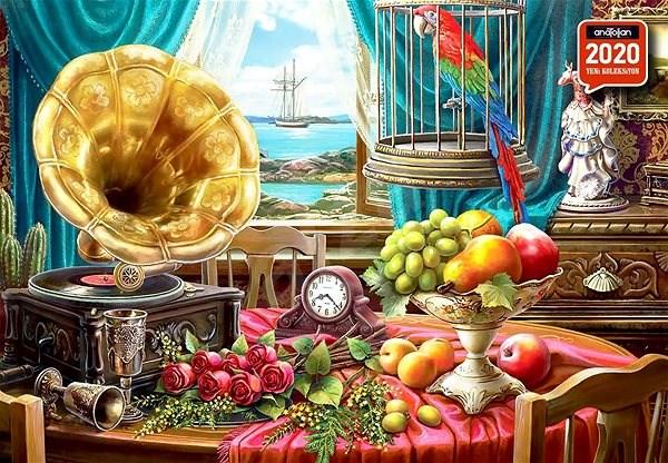 Anatolian Puzzle Zátiší s ovocem a gramofonem 1000 dílků - Puzzle
